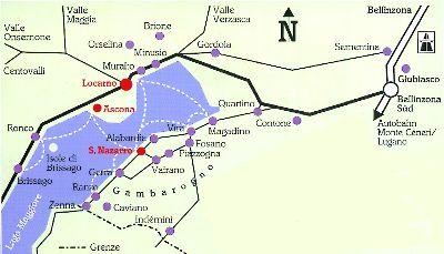 Vermietung von Ferienwohnungen in San Nazzaro im Tessin